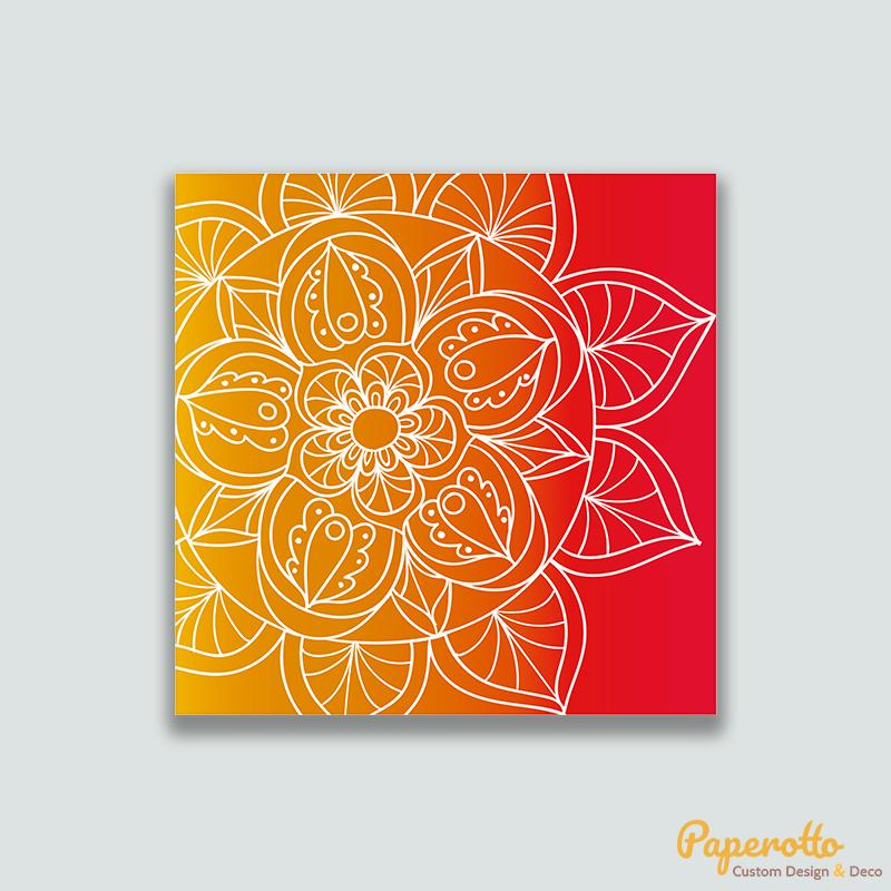 Cuadro Mandala naranja y amarillo - Paperotto
