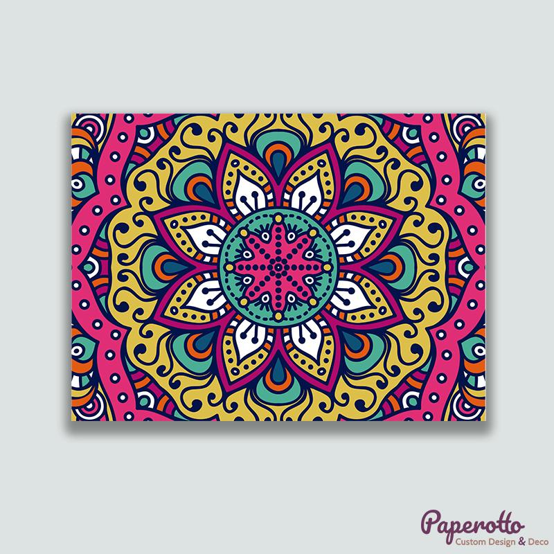 Cuadro Mandala Multicolor - Paperotto